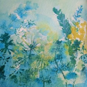 Hedgerow, Summer Morning – Greetings Card